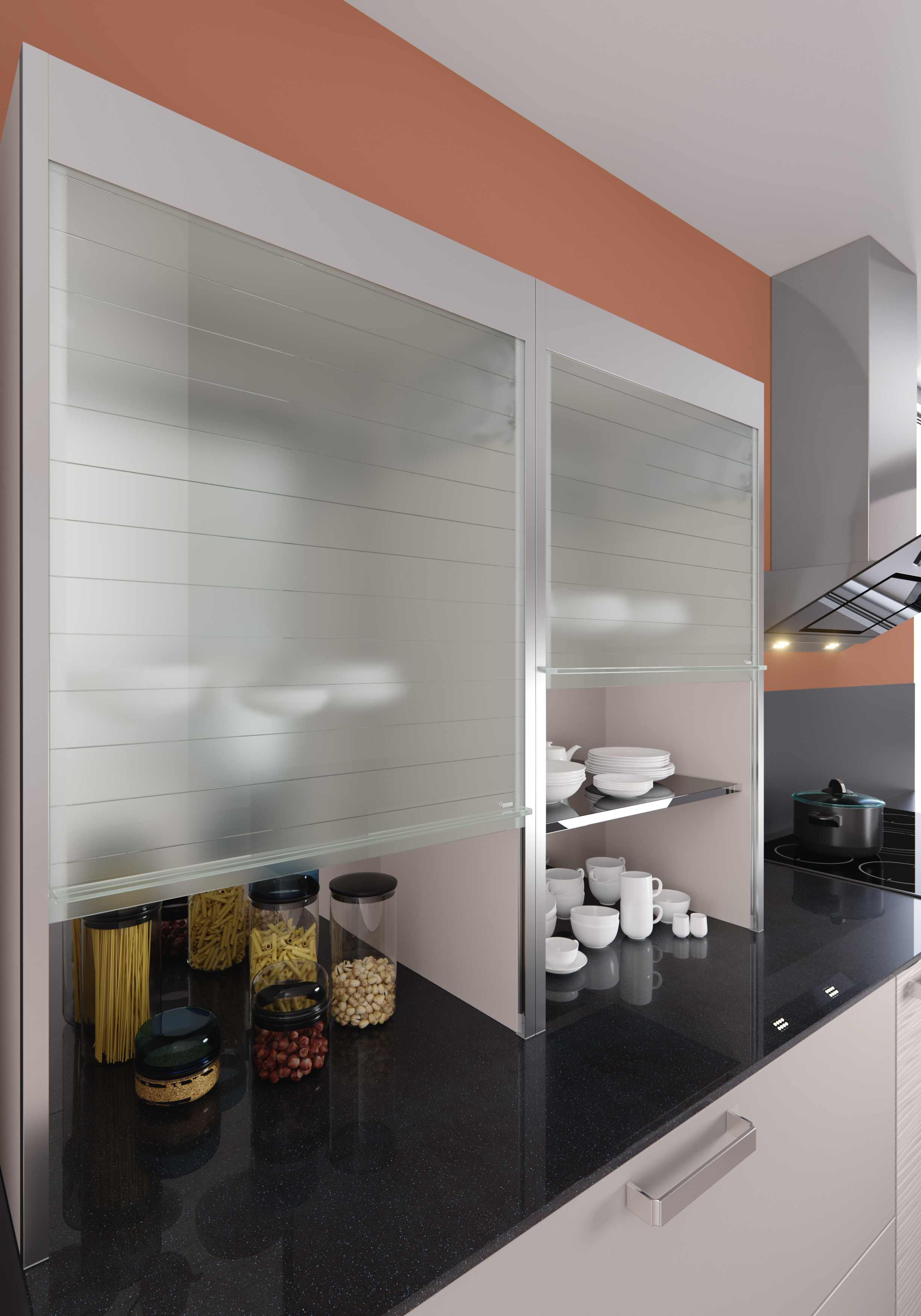 rehau neues glasrollladensystem macht die k che zum. Black Bedroom Furniture Sets. Home Design Ideas